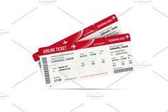 Airline ticket or boarding pass for traveling by plane isolated on white. Graphics Airline ticket or boarding pass for traveling by plane isolated on white. Vector illustration by Golden Sikorka Business Brochure, Business Card Logo, Ticket Drawing, Las Vegas With Kids, Ticket Design, By Plane, Doodle Inspiration, Script Type, Airline Tickets