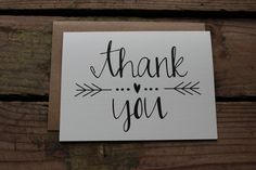 Thank You Cards with Envelopes / Wedding / von PontoMountainPaper