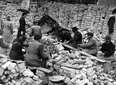 Once the old bricks were collected, they had to be meticulously cleaned and...