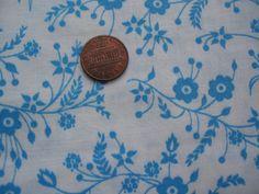 Vintage Pennsylvania Dutch Blue flowers on white by tessimal, $8.00
