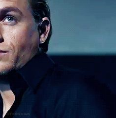 Charlie Hunnam... just click the .gif ladies. It does not disappoint. *Sidenote: he would have been a PERFECT Christian Grey, but whatever fangirls, thanks for ruining it.