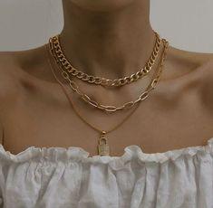 Fashion Jewelry Necklaces, Trendy Jewelry, Cute Jewelry, Luxury Jewelry, Fashion Necklace, Jewelery, Jewelry Accessories, Fashion Accessories, Women Jewelry