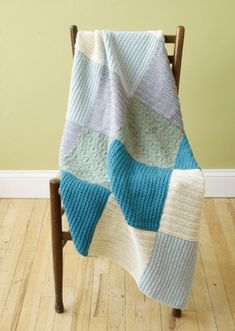 Loom Knit Patchwork Throw