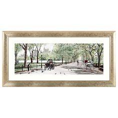 Buy Richard Macneil - Peaceful Stroll Central Park Framed Print, 62 x 128cm Online at johnlewis.com