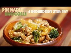 4 Ingredient Chicken Broccoli Pineapple Stir Fry for Meghan Trainor - YouTube