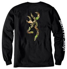 Bass Pro Shops® Browning® Camo Buckmark T-Shirt for Men - Long Sleeve | Bass Pro Shops