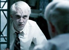 Draco Malfoy you have to feel bad for him here he is torn by his family's views and coming of age at 16,17 years old not knowing what he really believes, it shows the underneath all his flaws he is still a scared boy