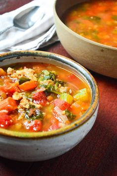Pressure Cooker Lentil and Sausage Soup comes together in 30 minutes for a complete hearty meal. Use your favorite green or brown canned lentils and lean Italian chicken sausage.
