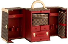 Luxury Travel With Louis Vuitton Legendary Trunk. I would love to have one of these. Sooo expensive though! Hand made too!