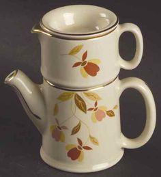 Hall Autumn Leaf Solo Mini Stacking Tea Pot Set