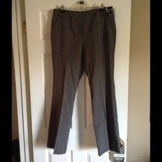 Charcoal gray slacks NWT Brand-new charcoal gray work pants. 7th avenue pant (boot cut) by New York and company. Never worn. New with tags. Flawless condition, but they are too big for me, and now it is too late to return them New York & Company Pants