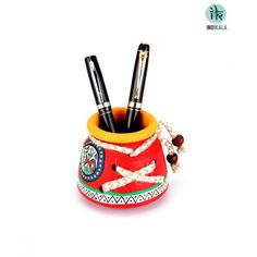 Name : Red Pen stand Price : Rs 299 Buy Now at : http://www.indikala.com/containers/pen-stand.html #luxury #ethnic #homedecor
