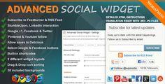 Advanced Social Widget WordPress Plugin Giveaway - Tweet & Follow @wpinsite for your chance to win 1 of 3 copies of our premium WordPress plugin Advanced Social Widget Feedburner edition.