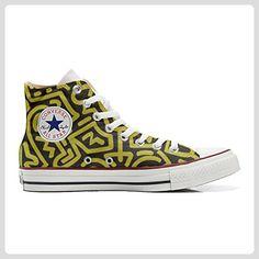 Converse All Star personalisierte Schuhe (Handwerk Produkt) Fantasia  Astratta - size EU46 - Sneakers