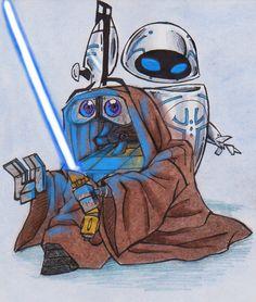 WALL.E and STAR WARS by ~xCrazyXForXChibisx on deviantART
