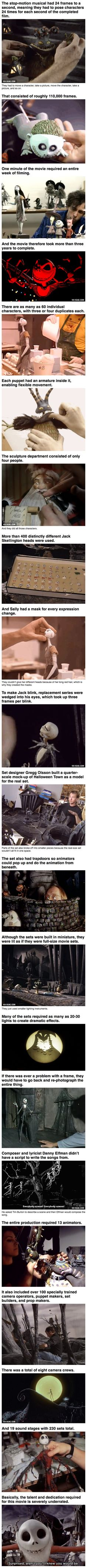 Here are some geeky things you probably did not know about the making of The Nightmare Before Christmas. I love Tim Burton movies & I love love love stop-motion! Disney And Dreamworks, Disney Pixar, Disney Facts, Nightmare Before Christmas, Arte Tim Burton, Disney Love, Disney Magic, Laika Studios, Kubo And The Two Strings