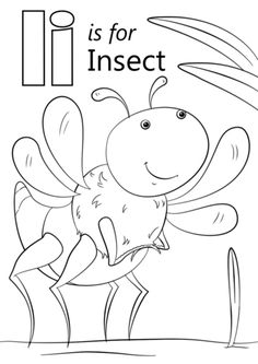 Letter I is for Insect coloring page from Letter I category. Select from 26768 printable crafts of cartoons, nature, animals, Bible and many more. Letter I Crafts, Preschool Letter Crafts, Preschool Writing, Alphabet Crafts, Preschool Activities, Kids Alphabet, Insect Coloring Pages, Alphabet Coloring Pages, Letter I Worksheet