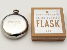 May You Never Go To Hell But Always Be On Your Way 5 oz. Flask by Izola from Emily Henderson on OpenSky