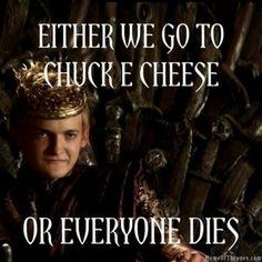 Hahahaha. But seriously, somebody kill Joffrey already.