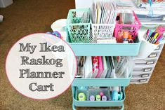 My Ikea Raskog Planner Cart!  |   The Gold Project