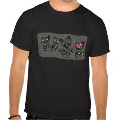Black T-Shirt Skulls design