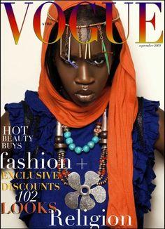 vibrant colours on dark skin