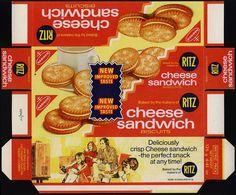 UK - Nabisco - Ritz Cheese Sandwich biscuits box proof - 1977 by JasonLiebig, via Flickr