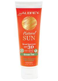 Natural Sun Spf 30+ Green Tea by Aubrey Organics - Buy Natural Sun Spf 30+ Green Tea 4 Cream at vitamin shoppe