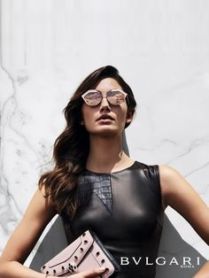lily aldridge in cutting-edge serpenteyes sunglasses