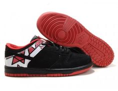 Nike Dunk Low Shoes - Black Red Cheap Jordan Shoes 8282c967072