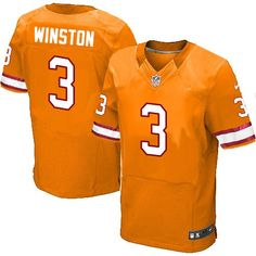 Jameis Winston Men s Elite Orange Jersey  Nike NFL Tampa Bay Buccaneers  Alternate  3 Nike 3d17afd0a