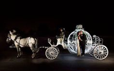 A fairy tale wedding featured on @reveriegallery #Repost At the end of the evening the bride and groom drove off in a horse drawn carriage... truly a fairytale moment!   Photographer: @AltfPhotography / Event Planner: @andreaeppolito / Event Design: @dbdweddings / Venue: @fslasvegas / Paper Design: @paperandhome / Gown: @sotteroandmidgley / Video: @somethingnewfilms / DJ: @djmikefox60 / Lighting: LED Unplugged