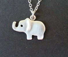 Sterling Silver Small Elephant Necklace Kids Teen Women BF mom Christmas in July on Etsy, $32.00