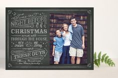 The Night Before Holiday Photo Cards by Ann Gardner at minted.com