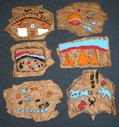 Native American Brown Paper Buffalo Hides, 2nd & 3rd grade