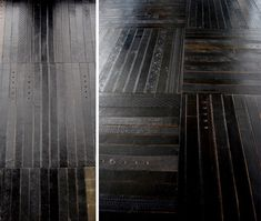 floor tiles made from old belts!