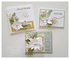 Homemade Christmas Cards, Christmas Cards To Make, Xmas Cards, Handmade Christmas, Holiday Cards, Winter Cards, Greeting Cards, Poinsettia Cards, Christmas Poinsettia
