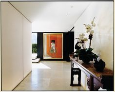 Pretty neat to have a Francis Bacon at home, there's really not much else to say ... Donna Karan's Manhattan penthouse for Vogue in 2004.