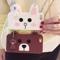 Cute cartoon bear/rabbit iphone case