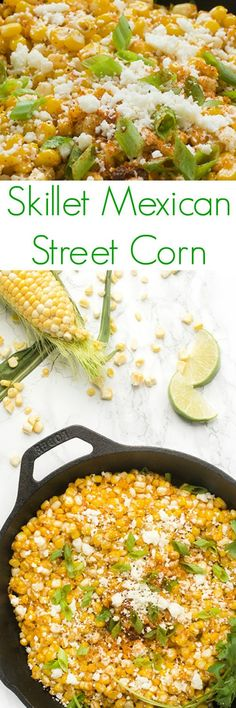 Fresh sweet corn is sautéed with spices before being tossed with lime juice and topped with cilantro, onions and Mexican cheese.