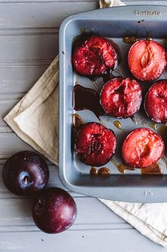 Sweet Treats: food, photography, life: Honey Roasted Plums (AIP)
