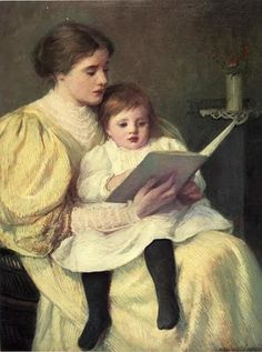 Frederick Warren Freer - Mother and Child Reading No much how I love abstract art I ' m a sucker for this genre