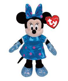 Look what I found on #zulily! Minnie Mouse Teal Sparkle Beanie Baby #zulilyfinds