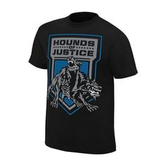 """Official WWE Authentic The Shield """"Hounds of Justice"""" Retro T-Shirt Black Wwe Shirts, Wrestling Shirts, The Shield Wwe, Retro Shirts, Clothing Items, Mens Tops, T Shirt, Cotton Shirts, Clothes"""
