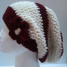 Burgandy and Cream Hat | Surprise Designs