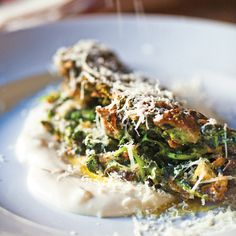 """This interpretation of a classic Sicilian omelet employs stale bread, a little egg, and lots of fresh greens (spinach or nettle leaves). Recipe and image reprinted with permission from """"Tartine Bread,"""" by Chad Robertson, with photographs by Eric Wolfinger."""