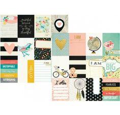 Papier double 30x30 'Simple Stories - I Am...' 3x4 JC Elts