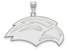 LogoArt Sterling Silver University Of Southern Misterling Silver Large Pendant Necklace - Chain Included