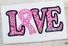 Love Awareness Ribbon Applique - 4 Sizes! | What's New | Machine Embroidery Designs | SWAKembroidery.com Creative Appliques