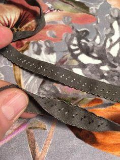 Kantning med folde elastik. | sygal